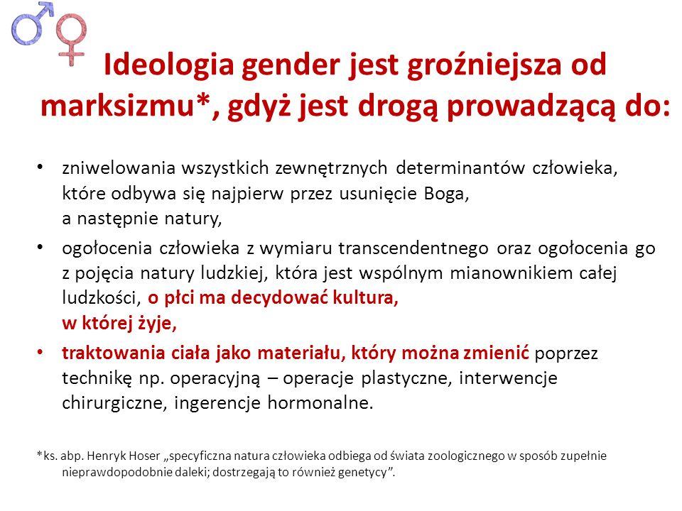 Ideologia gender jest groźniejsza od marksizmu