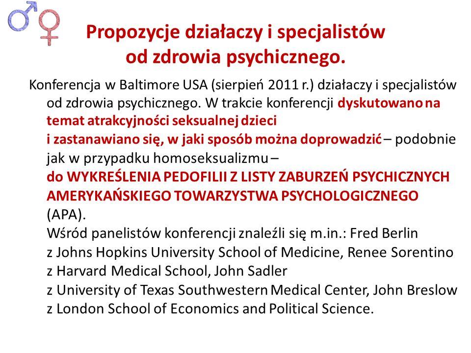 Propozycje działaczy i specjalistów od zdrowia psychicznego.