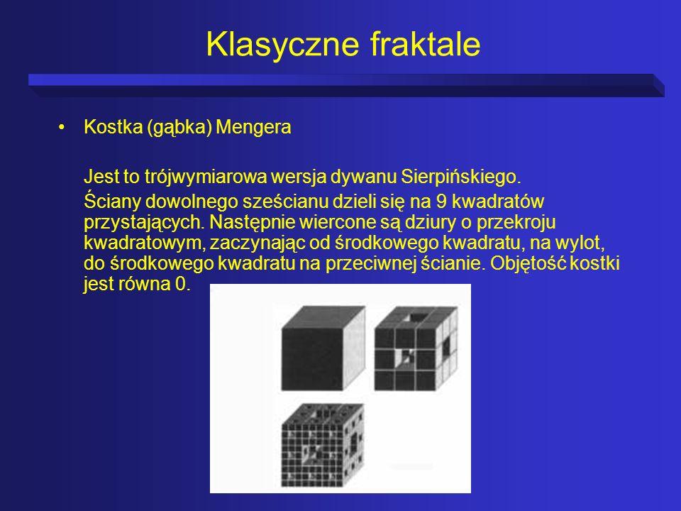 Klasyczne fraktale Kostka (gąbka) Mengera