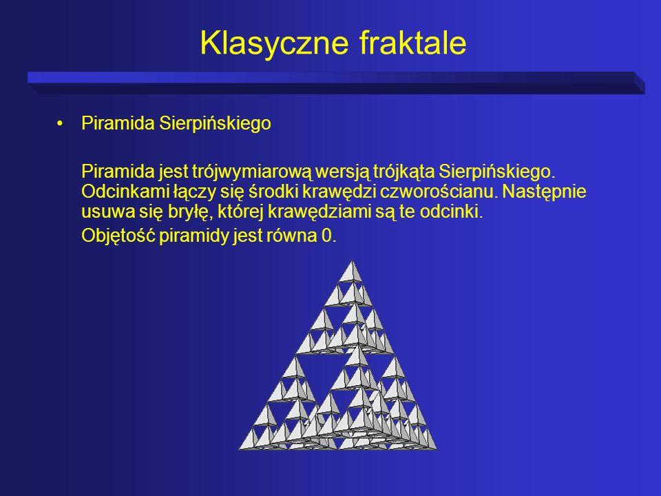 Klasyczne fraktale Piramida Sierpińskiego