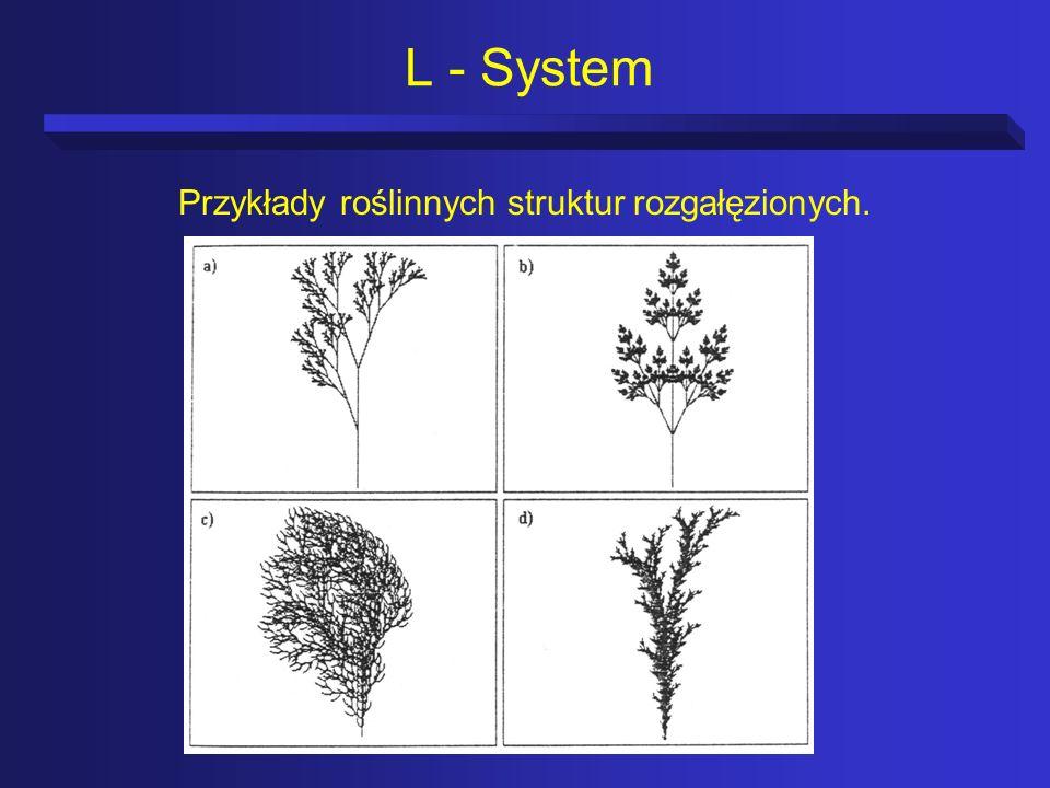 Przykłady roślinnych struktur rozgałęzionych.
