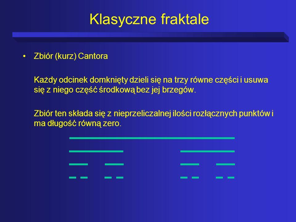 Klasyczne fraktale Zbiór (kurz) Cantora
