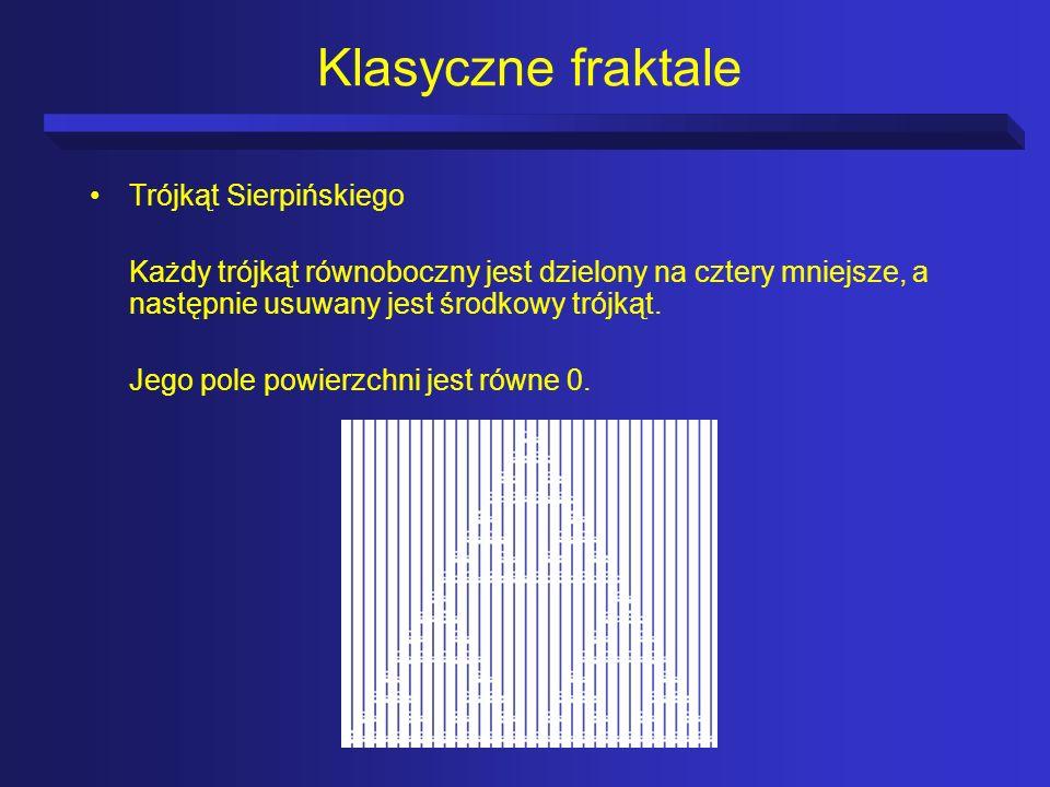 Klasyczne fraktale Trójkąt Sierpińskiego