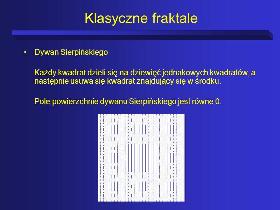 Klasyczne fraktale Dywan Sierpińskiego