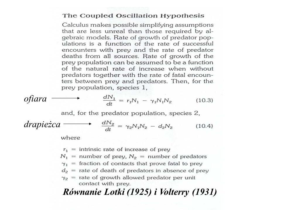 Równanie Lotki (1925) i Volterry (1931)