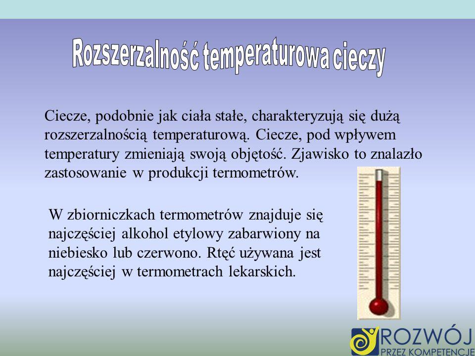 Rozszerzalność temperaturowa cieczy