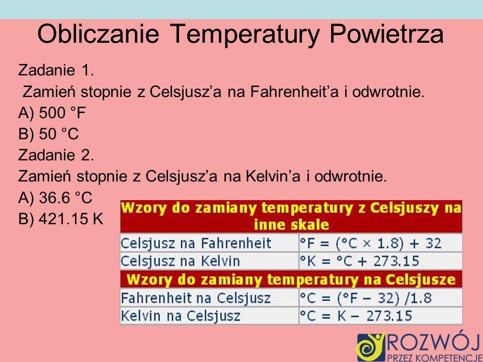 Obliczanie Temperatury Powietrza