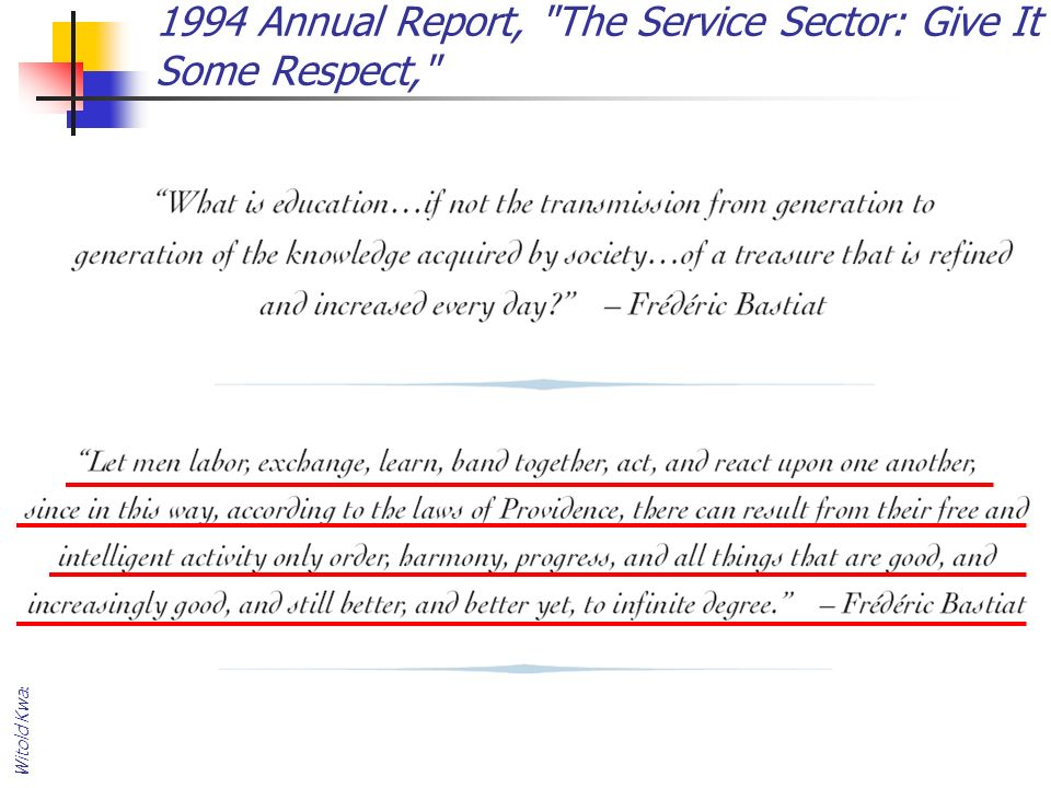 1994 Annual Report, The Service Sector: Give It Some Respect,