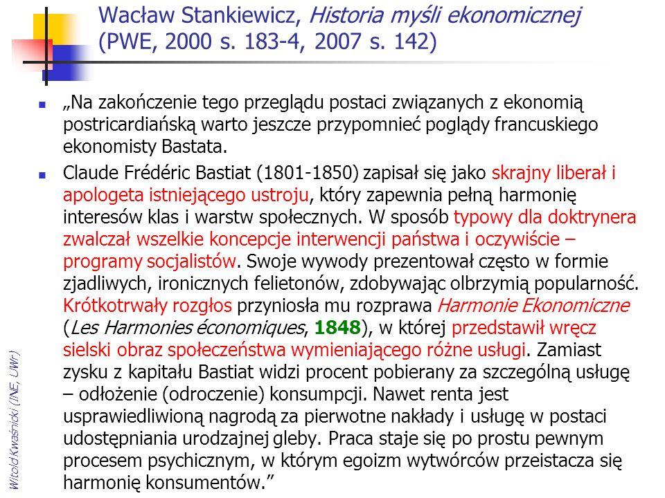 Wacław Stankiewicz, Historia myśli ekonomicznej (PWE, 2000 s