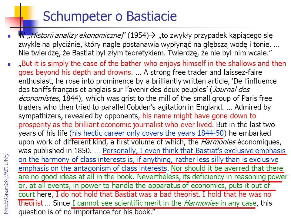 Schumpeter o Bastiacie