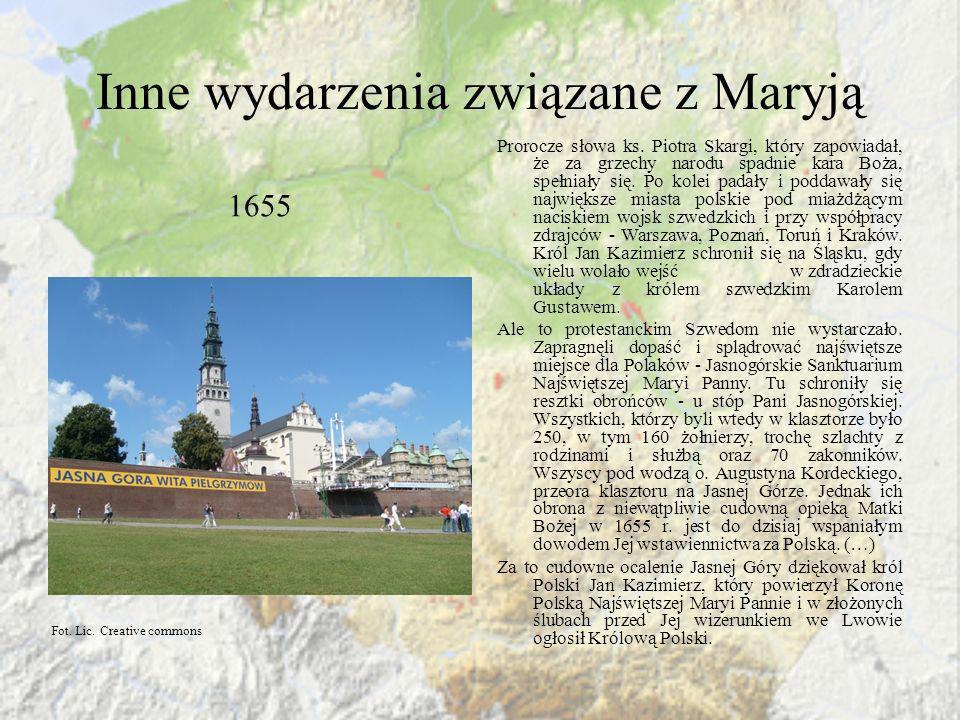 Inne wydarzenia związane z Maryją