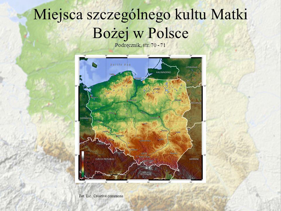 Miejsca szczególnego kultu Matki Bożej w Polsce Podręcznik, str