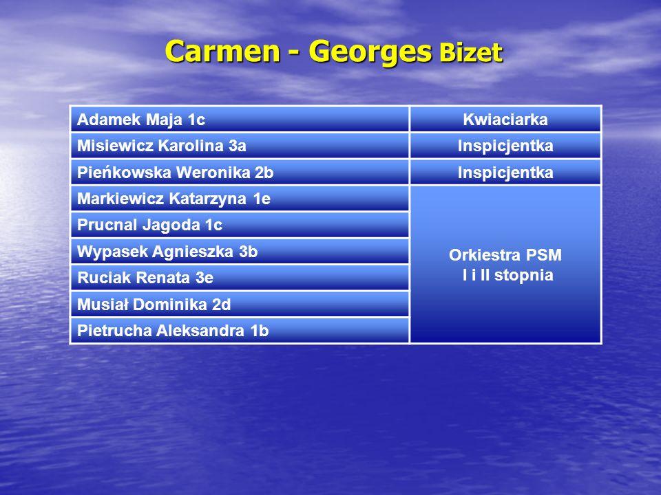 Carmen - Georges Bizet Adamek Maja 1c Kwiaciarka Misiewicz Karolina 3a