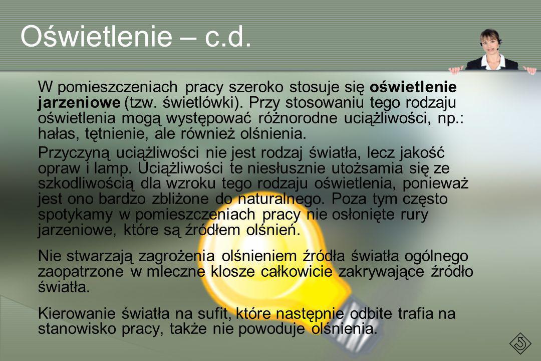 Oświetlenie – c.d.