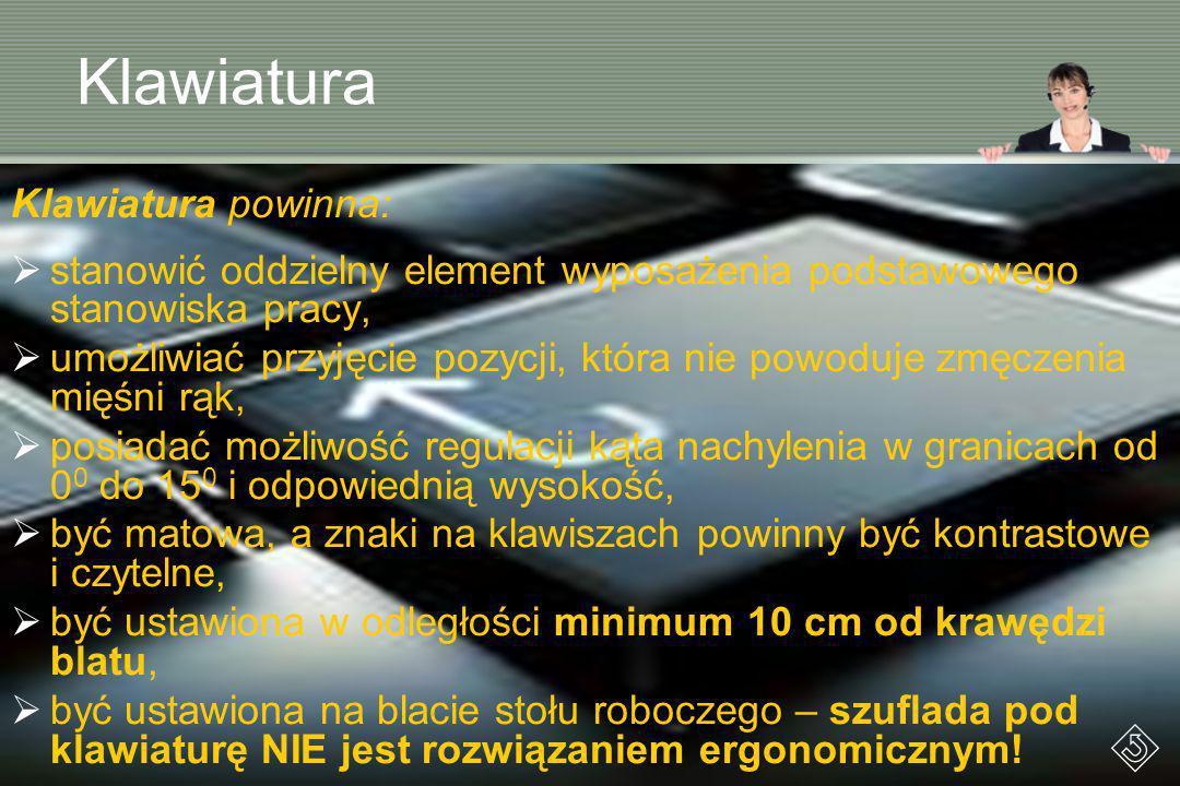 Klawiatura Klawiatura powinna: