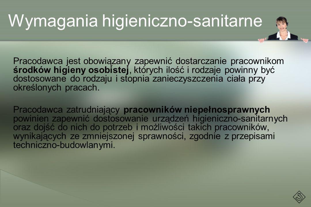 Wymagania higieniczno-sanitarne