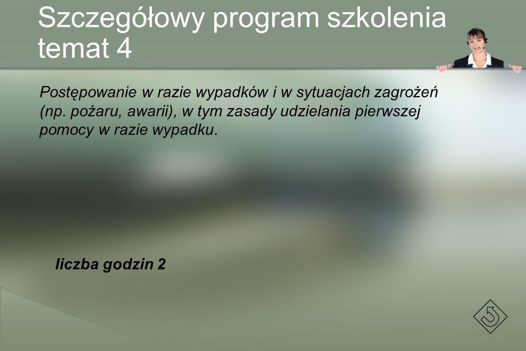 Szczegółowy program szkolenia temat 4