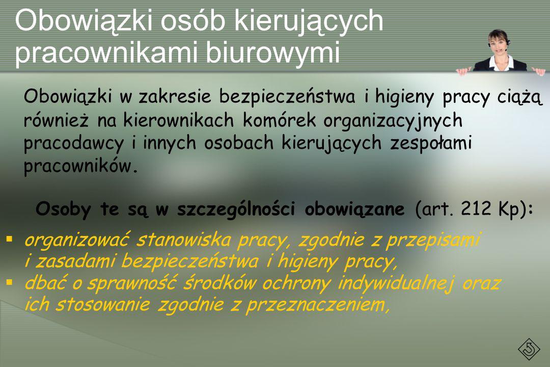 Obowiązki osób kierujących pracownikami biurowymi