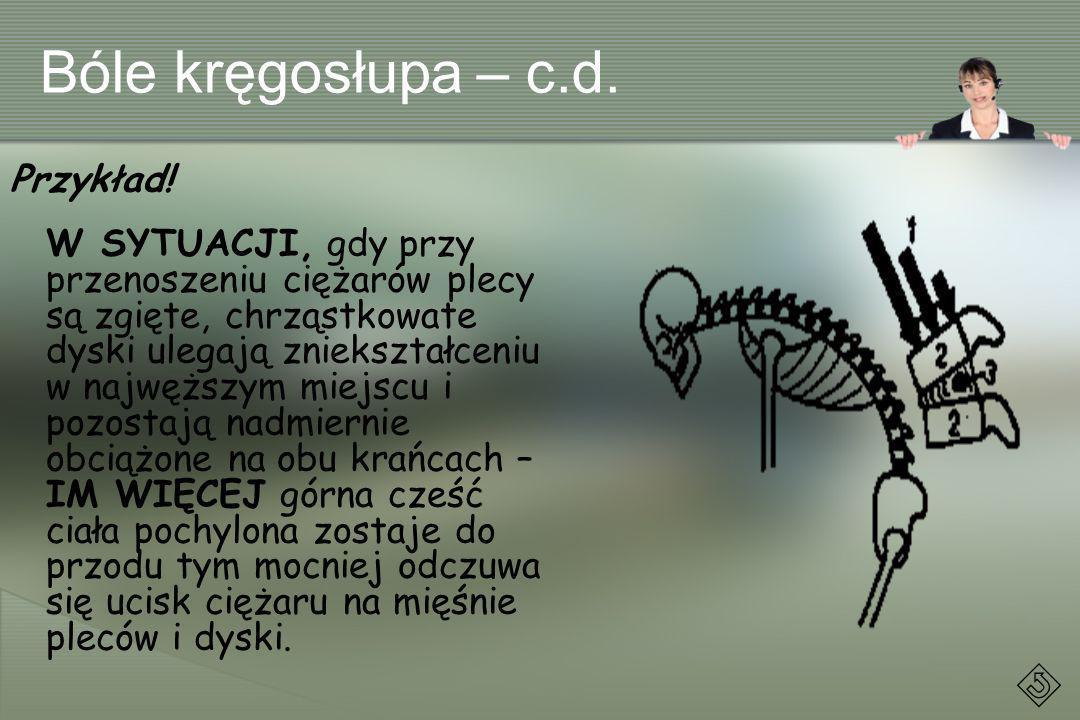 Bóle kręgosłupa – c.d. Przykład!