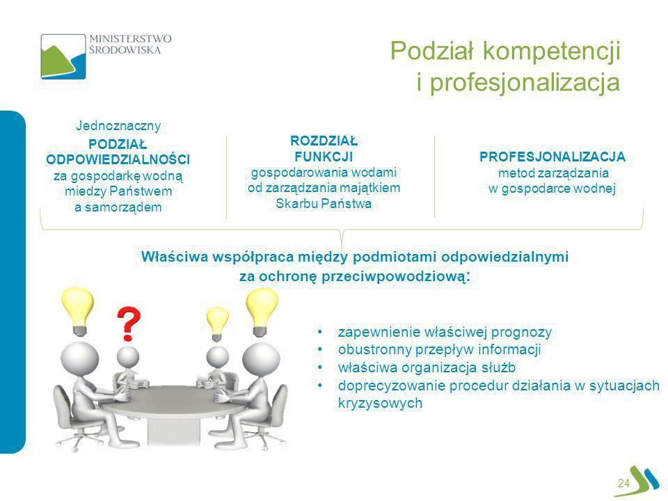 Podział kompetencji i profesjonalizacja