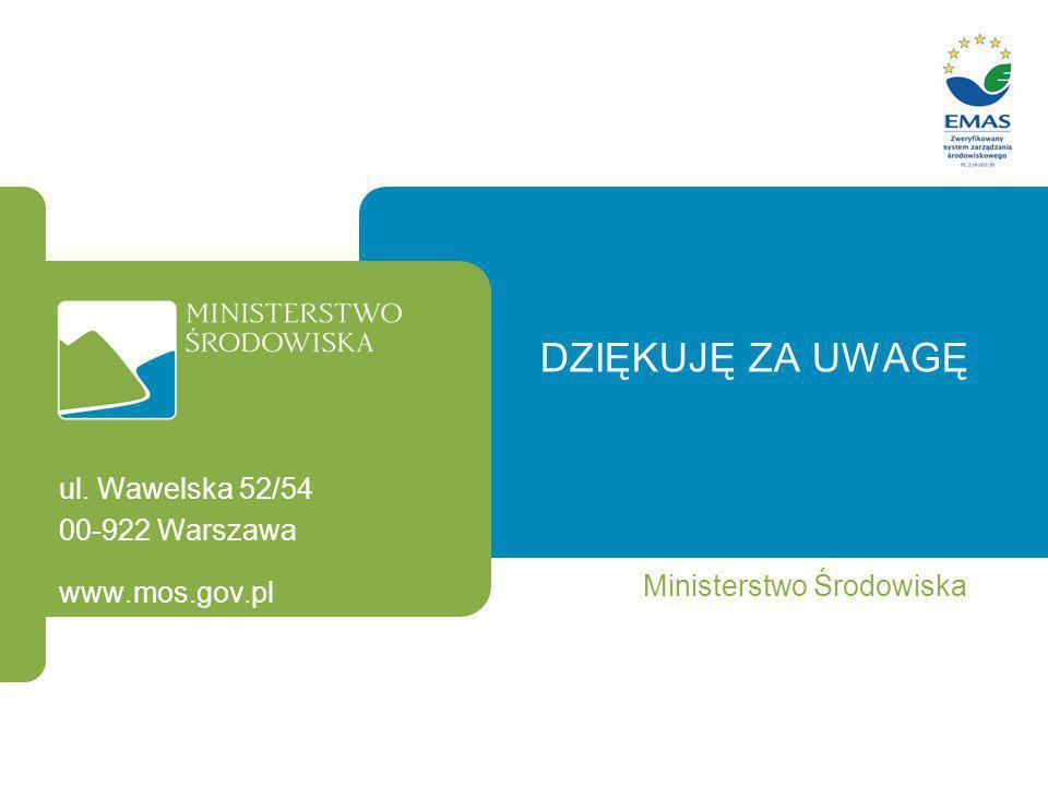 Dziękuję za uwagę ul. Wawelska 52/54 00-922 Warszawa