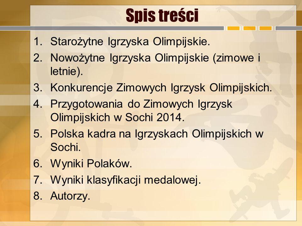 Spis treści Starożytne Igrzyska Olimpijskie.