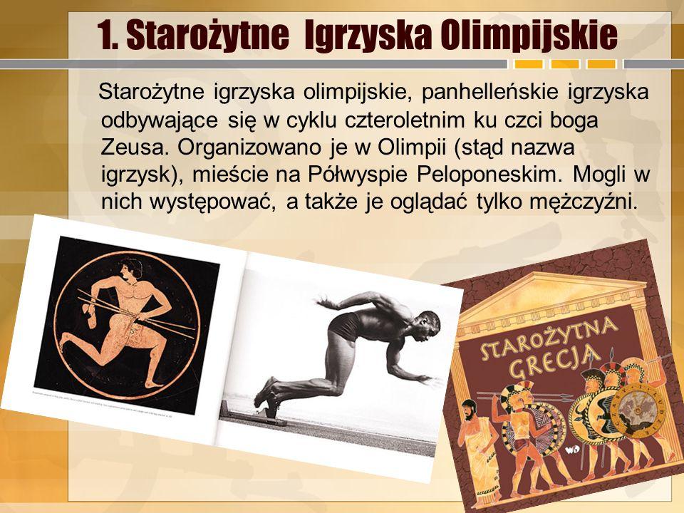 1. Starożytne Igrzyska Olimpijskie
