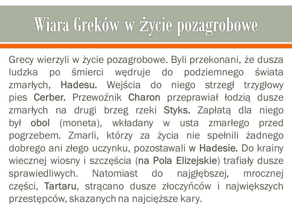 Wiara Greków w życie pozagrobowe