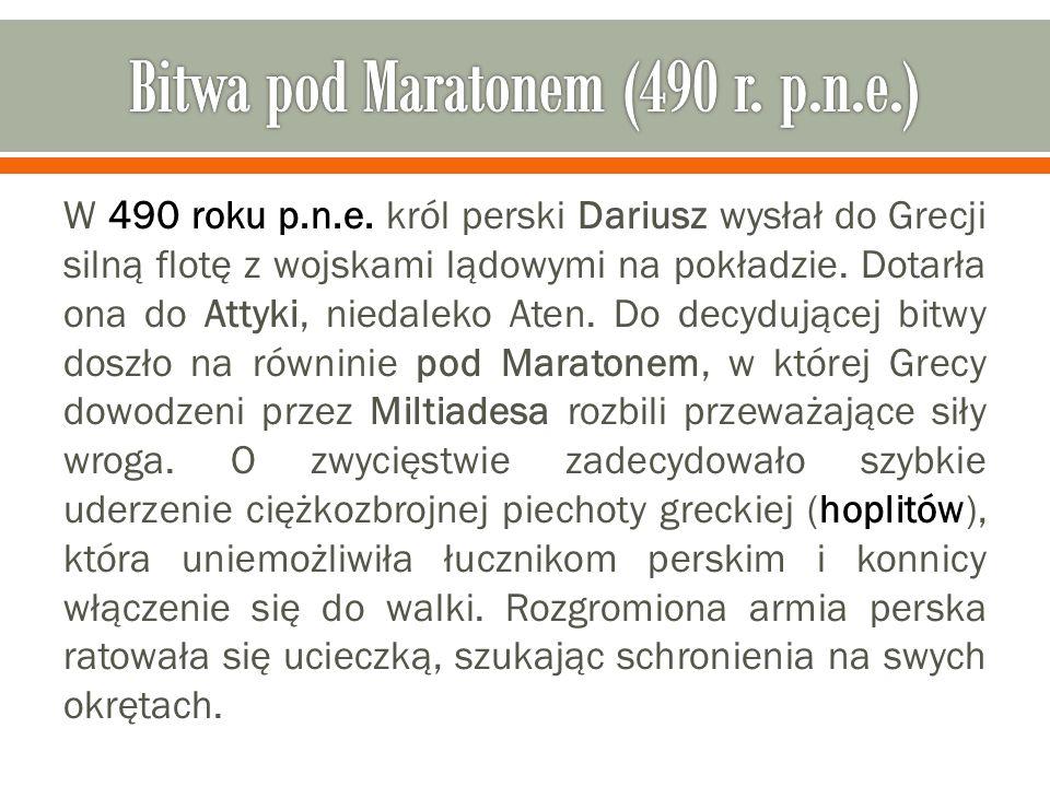 Bitwa pod Maratonem (490 r. p.n.e.)