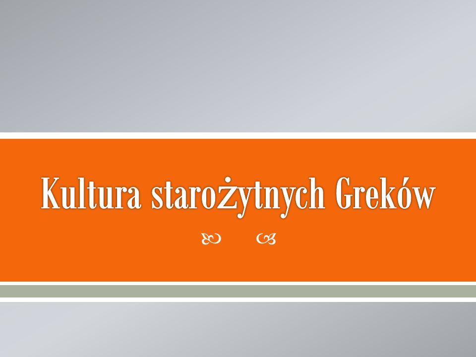Kultura starożytnych Greków