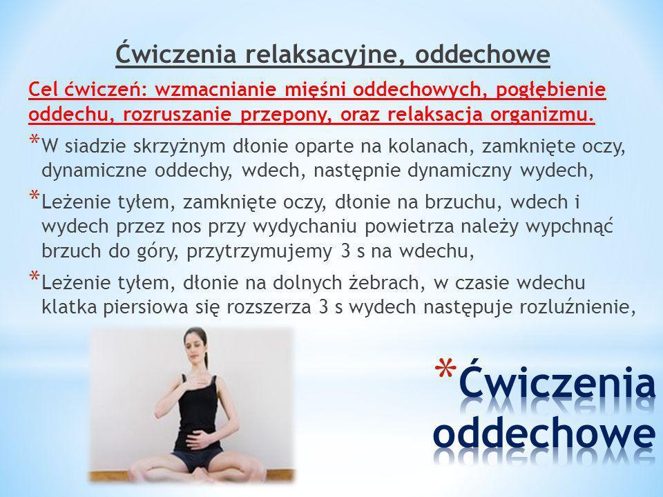Ćwiczenia relaksacyjne, oddechowe