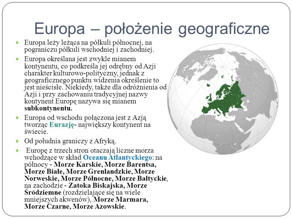 Europa – położenie geograficzne