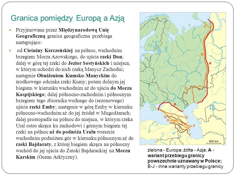 Granica pomiędzy Europą a Azją