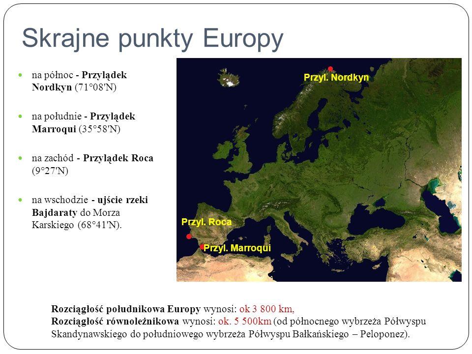 Skrajne punkty Europy na północ - Przylądek Nordkyn (71°08 N)