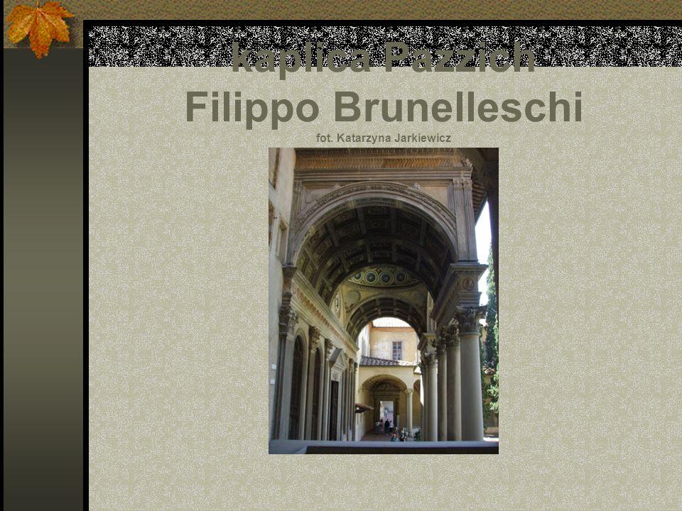 kaplica Pazzich Filippo Brunelleschi fot. Katarzyna Jarkiewicz