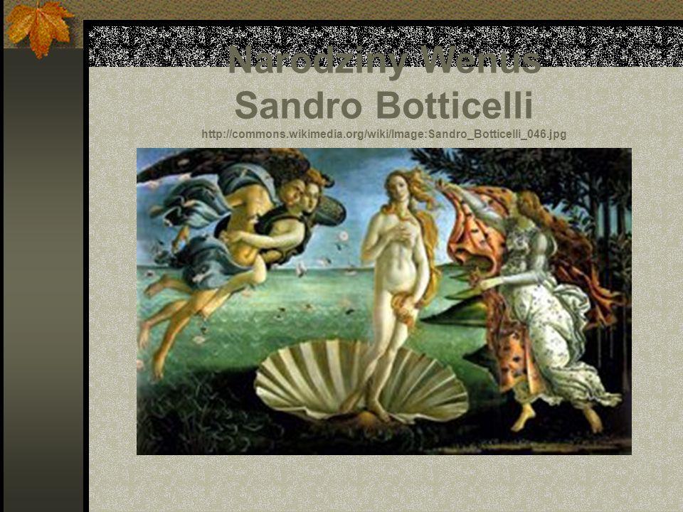Narodziny Wenus Sandro Botticelli http://commons. wikimedia