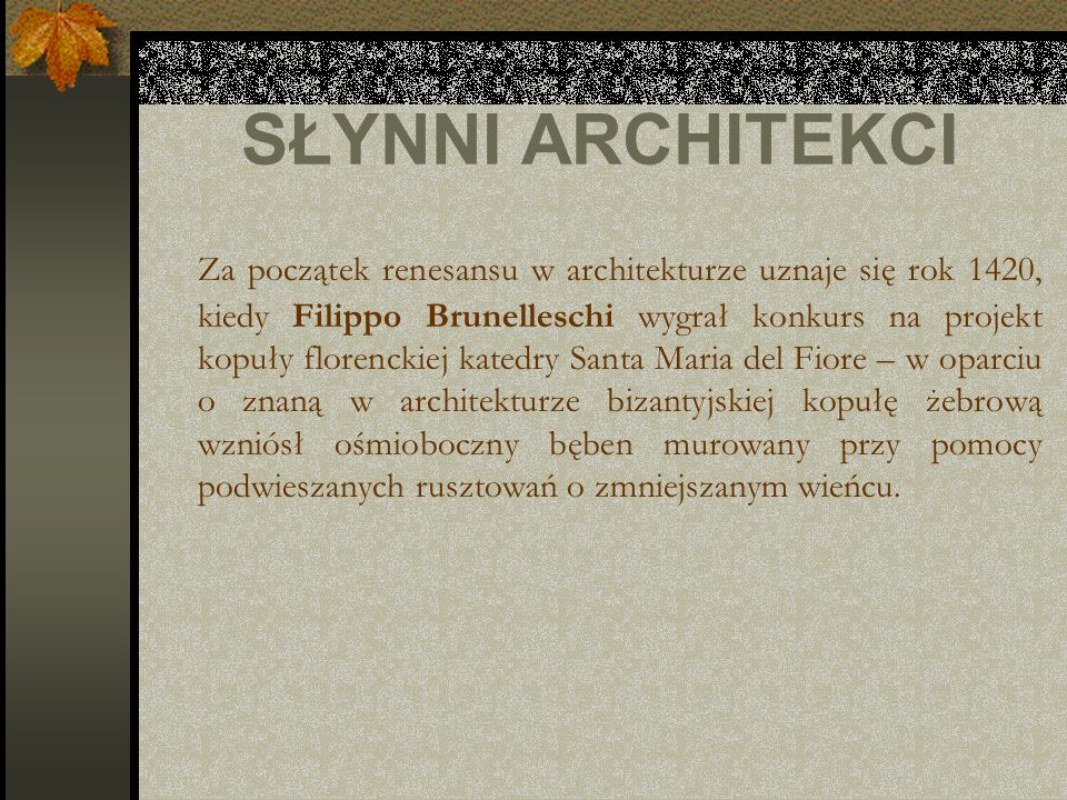 SŁYNNI ARCHITEKCI