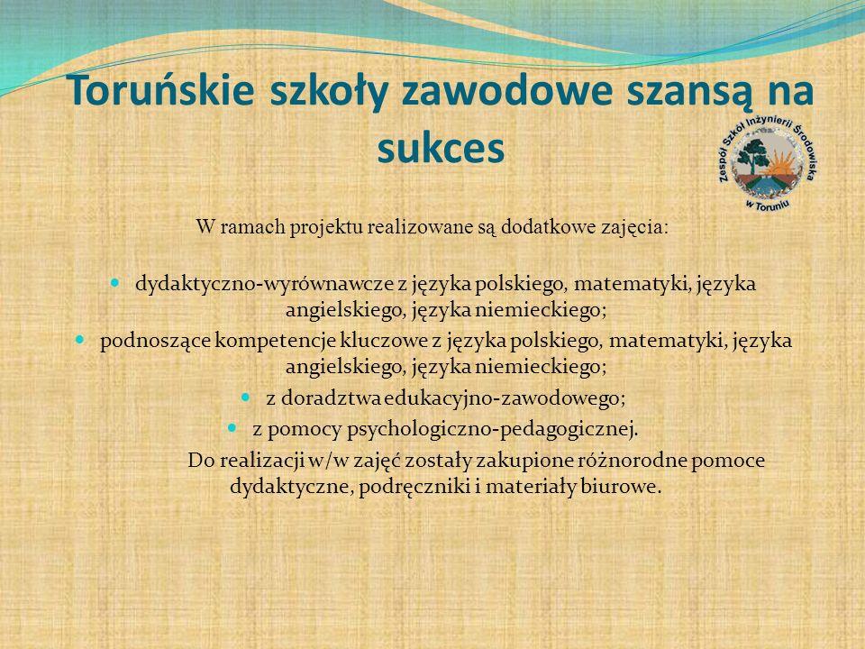 Toruńskie szkoły zawodowe szansą na sukces