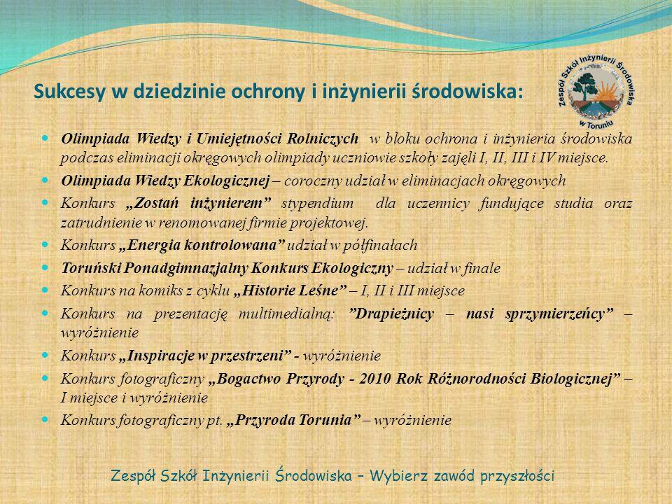 Sukcesy w dziedzinie ochrony i inżynierii środowiska: