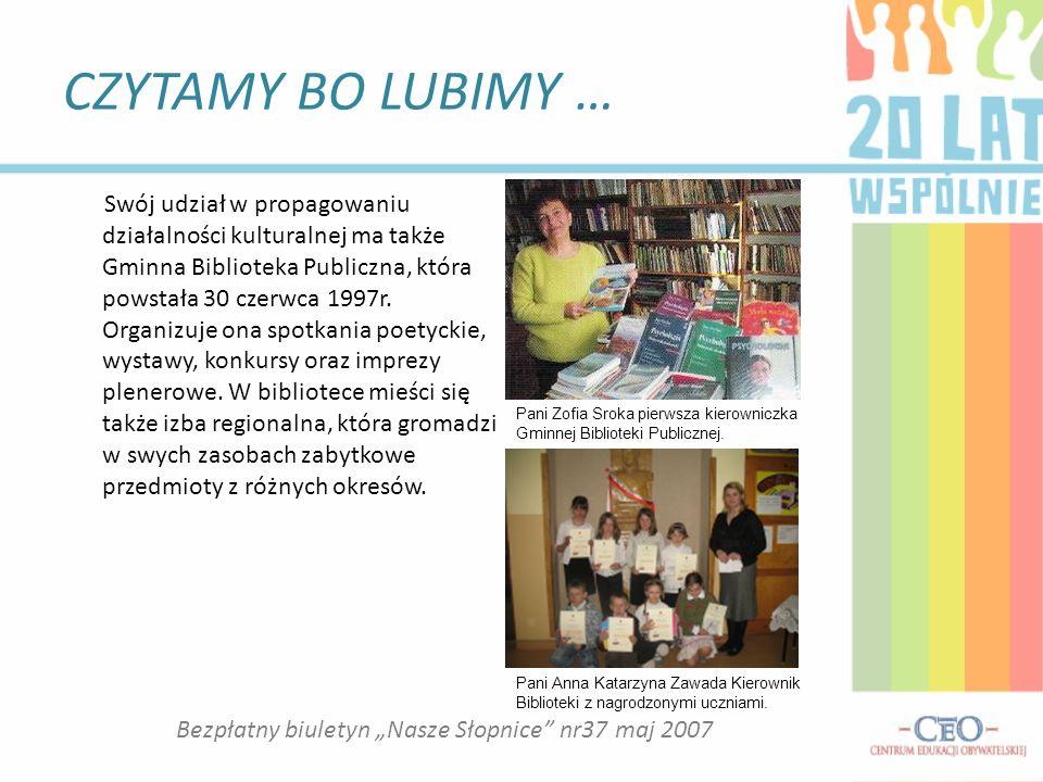 """Bezpłatny biuletyn """"Nasze Słopnice nr37 maj 2007"""