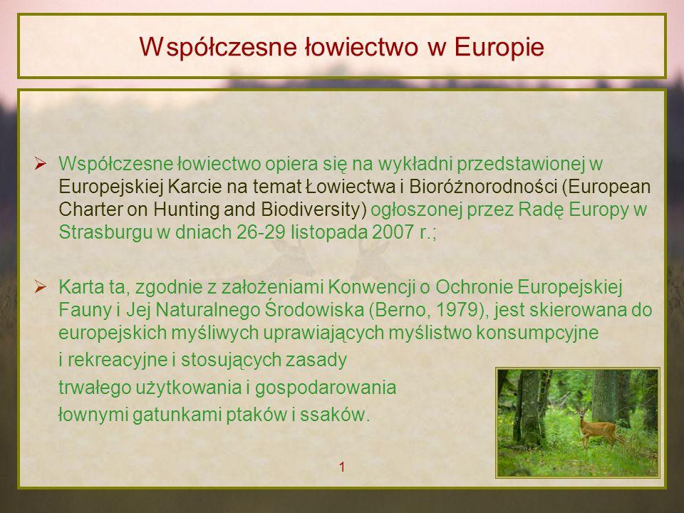 Współczesne łowiectwo w Europie