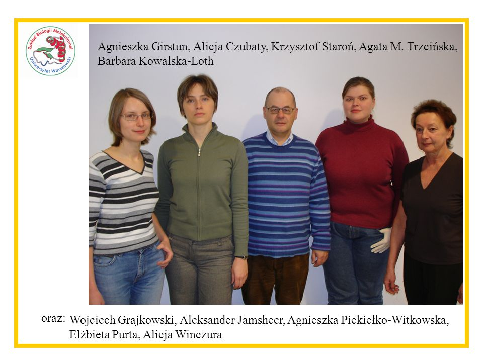Agnieszka Girstun, Alicja Czubaty, Krzysztof Staroń, Agata M