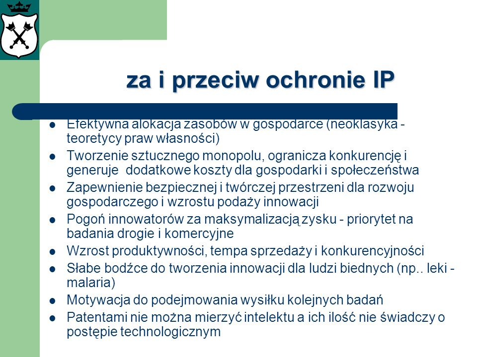 za i przeciw ochronie IP