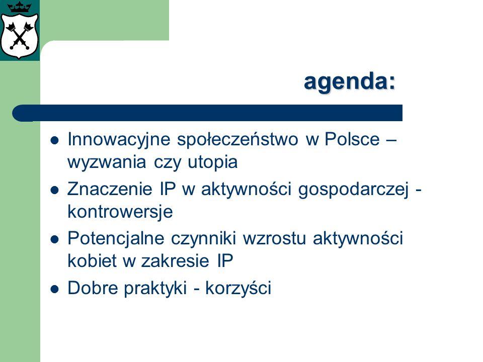 agenda: Innowacyjne społeczeństwo w Polsce – wyzwania czy utopia