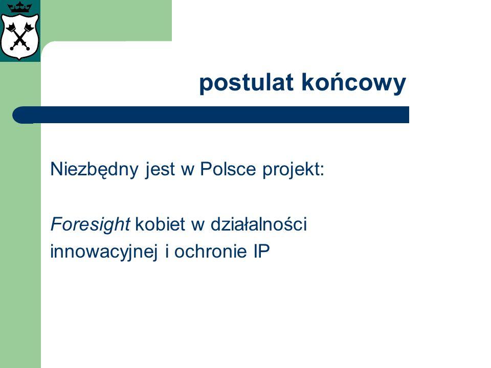 postulat końcowy Niezbędny jest w Polsce projekt: