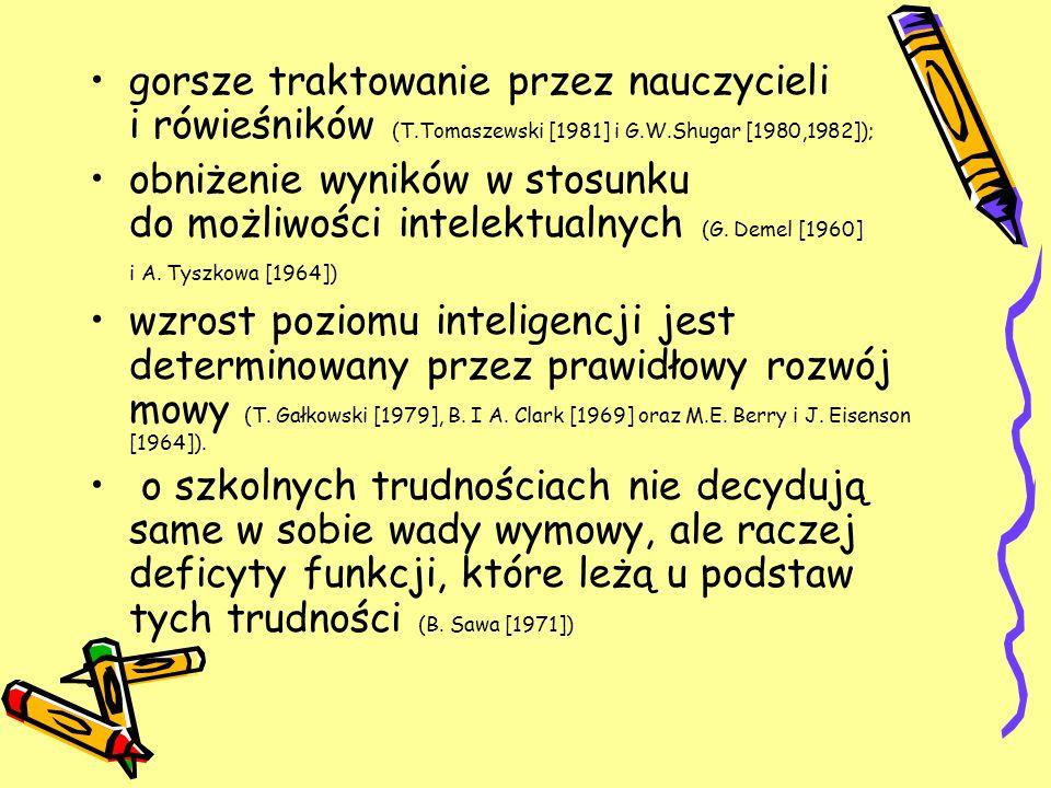 gorsze traktowanie przez nauczycieli i rówieśników (T