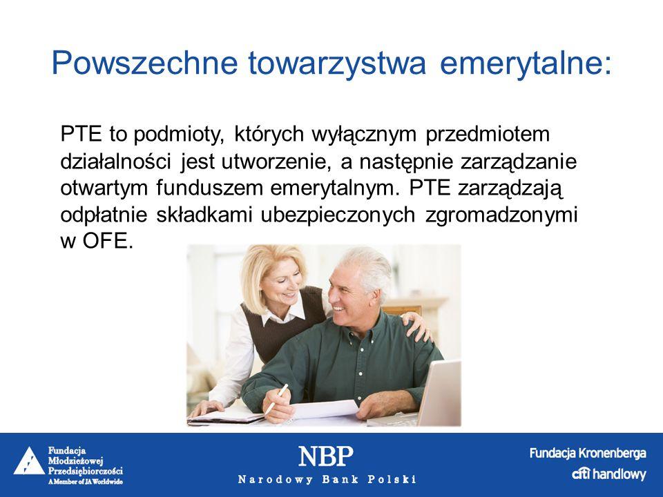 Powszechne towarzystwa emerytalne: