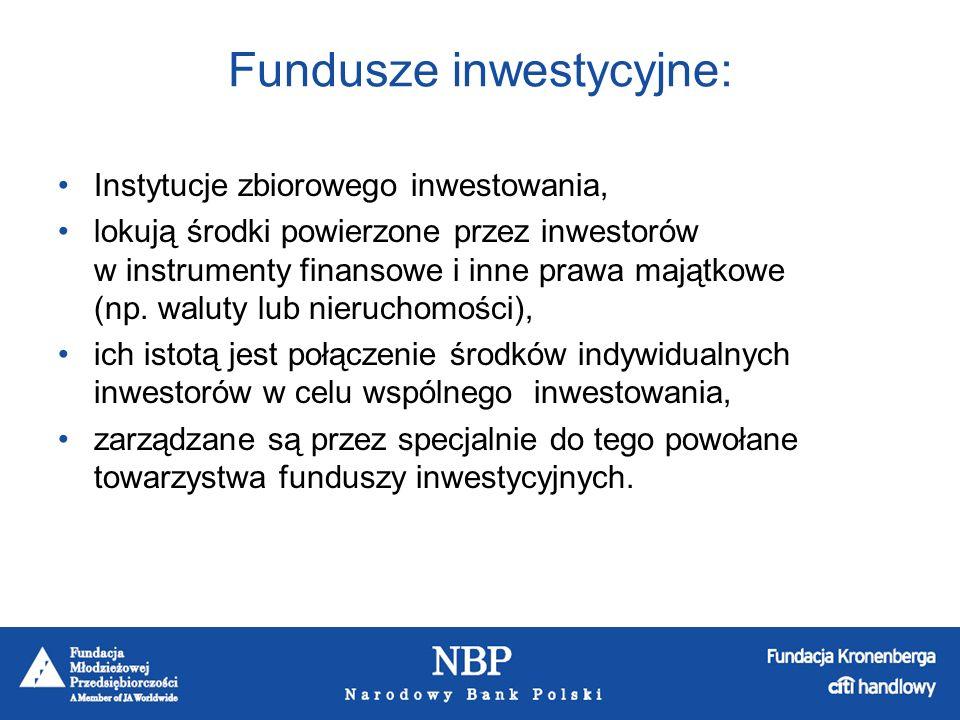 Fundusze inwestycyjne:
