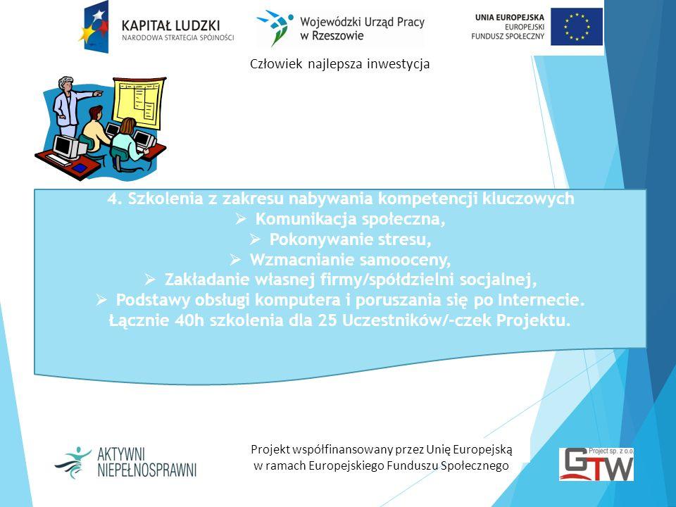 4. Szkolenia z zakresu nabywania kompetencji kluczowych