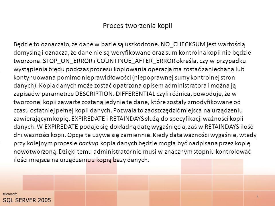 Proces tworzenia kopii